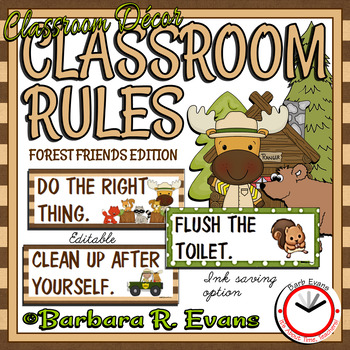 FOREST ANIMALS: Forest, Forest Activity, Forest Animal Class Rules, Forest Decor