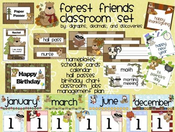 Forest Friends Classroom Set