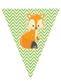 Forest Friends Pennant Banner