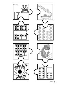NUMBER SENSE: Number Sense Activity, Numbers to 20, Math Center, Subitizing