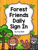 Forest Friends Daily Sign-In System {Editable}