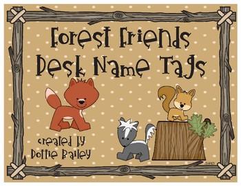 Forest Friends Desk Name Plates