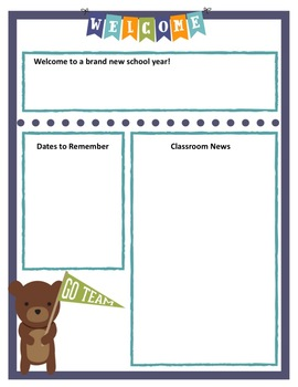 Forest Friends EDITABLE NEWSLETTERS