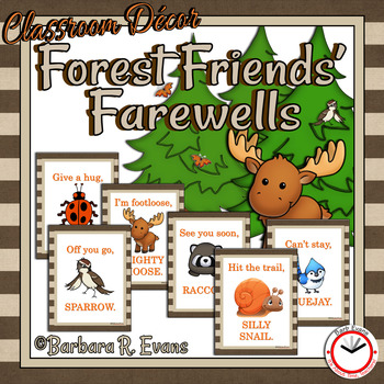 FOREST ANIMALS: Forest / Woodland Animal Activities, Good-bye Phrases, Decor