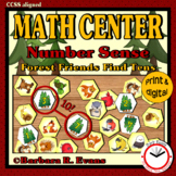 MATH CENTER Number Sense Addition within 10 Forest Theme