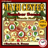 MATH CENTER Number Sense Addition Forest Friends Find Tens