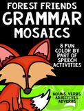 Forest Friends Grammar Mosaics! Color By Part of Speech