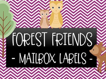 Forest Friends - Mailbox Labels