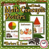 MATH CONCEPTS POSTERS Math Focus Wall Forest Camping Theme Classroom Decor