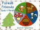 Forest Friends Math & Literacy B (K-1st Grade CCSS) 15 centers