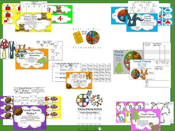 Forest Friends Math Pack A & B (K-1 CCSS)