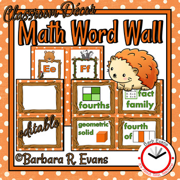 MATH WORD WALL Math Vocabulary Focus Wall Forest Woodland Camping Theme Decor