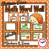 MATH WORD WALL Math Vocabulary Focus Wall Forest Camping Theme Classroom Decor