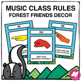Forest Friends Music Class Decor: Major Scale Music Rules
