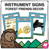 Forest Friends Music Classroom Decor: Instrument Families of the Orchestra