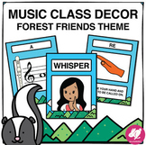 Forest Friends Music Classroom Decor: Music Class Decor & Posters Bundle