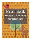 Forest Friends - Name Tags and Lunch Tags