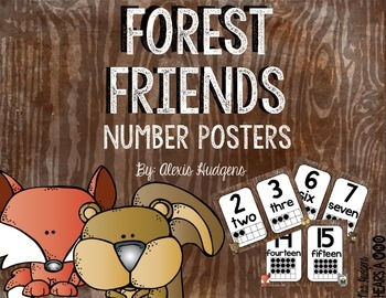 Forest Friends Number Posters