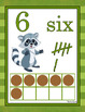 FOREST ANIMALS: Forest / Woodland Animals Numbers Posters,