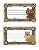 Forest Friends Pencil Box Name Plates