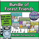Forest Friends Rhythm Pattern Fun {BUNDLE}