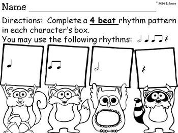 Forest Friends Rhythm Pattern Fun {Half Note}