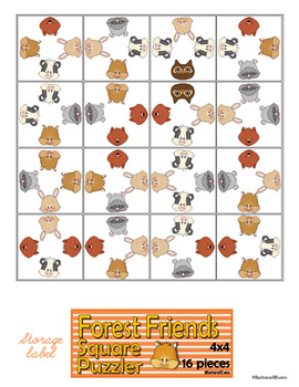 CRITICAL THINKING PUZZLES Forest Animal Activities Brain Teasers Differentiation