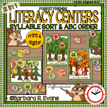 SYLLABLES: Syllable Sort, Syllables Literacy Center, Phonics