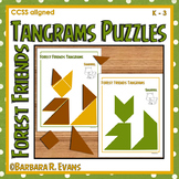 TANGRAM PUZZLES Forest Theme Math Center Problem Solving Critical Thinking