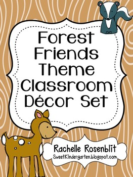 Forest Friends Theme Classroom Decor Set
