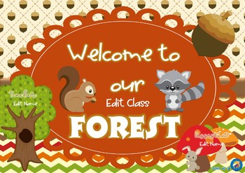 Forest Friends OR Woodland Creatues Themed Classroom Decor Pack