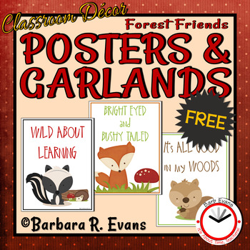 FOREST ANIMALS: Forest Activity, Forest Animal Posters, Forest Theme Decor