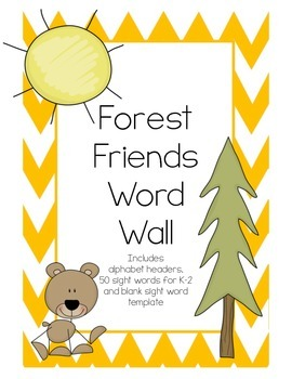 Forest Friends Word Wall