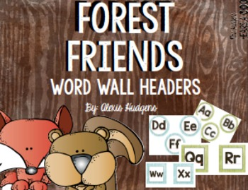Forest Friends Word Wall Headers