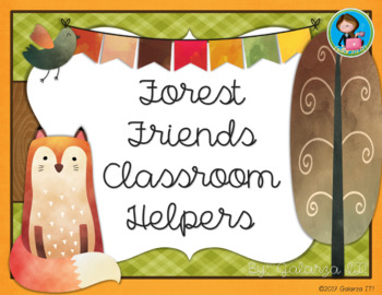 Forest Friends classroom helper job cards (76 jobs in 2 sizes cards)