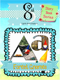 Forest Gnomes Alphabet and Number Clip Art