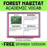 Forest Habitat Projectable Academic Vocabulary