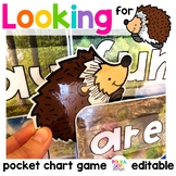 Forest Hedgehog Alphabet and Sight Word Game