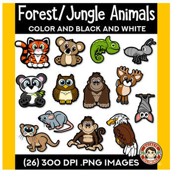 Forest/Jungle Animals Clip Art | Squishies Clipart