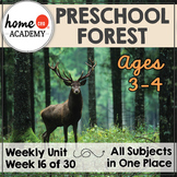 Forest Life - Weekly Preschool Curriculum Unit for Preschool, PreK or Homeschool