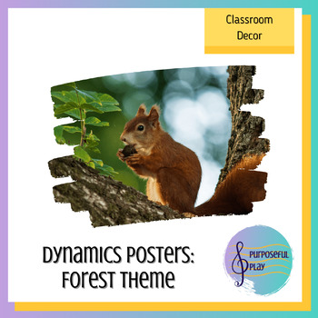 Forest Music Room Decor Dynamics Posters