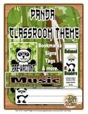 Forest Panda Theme Classroom Decor