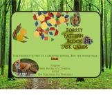 Forest Pattern Block Task Cards- STEM