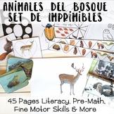 Forest Preschool Activity Pack In Spanish - Set De Imprimibles Del Bosque