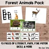Forest Preschool Activity Pack Montessori Inspired Printables