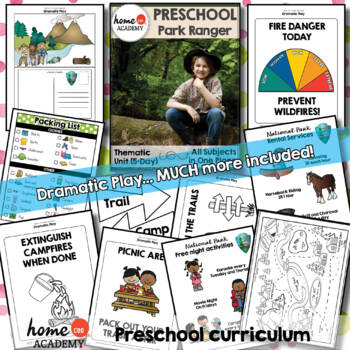 Forest Ranger Community Helper Preschool Unit for Preschool, PreK or Homeschool