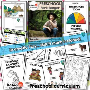 Forest Ranger Community Helper Preschool Unit for Preschool, PreK or Homeschool