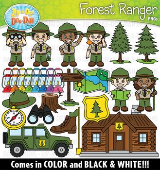 Forest Ranger Community Helpers Clipart {Zip-A-Dee-Doo-Dah Designs}