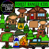 Forest Ranger Kids {Creative Clips Digital Clipart}