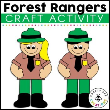 Forest Rangers Cut and Paste